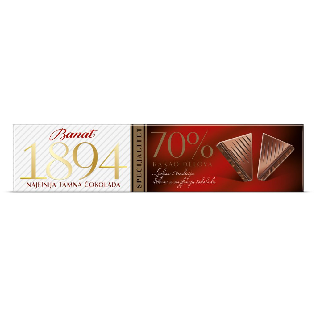 Specijalitet čokolada 70% kakao delova