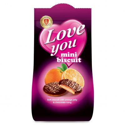 LY Mini orange biscuit 115g