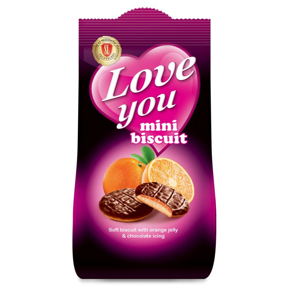 LY Mini orange biscuit 115g