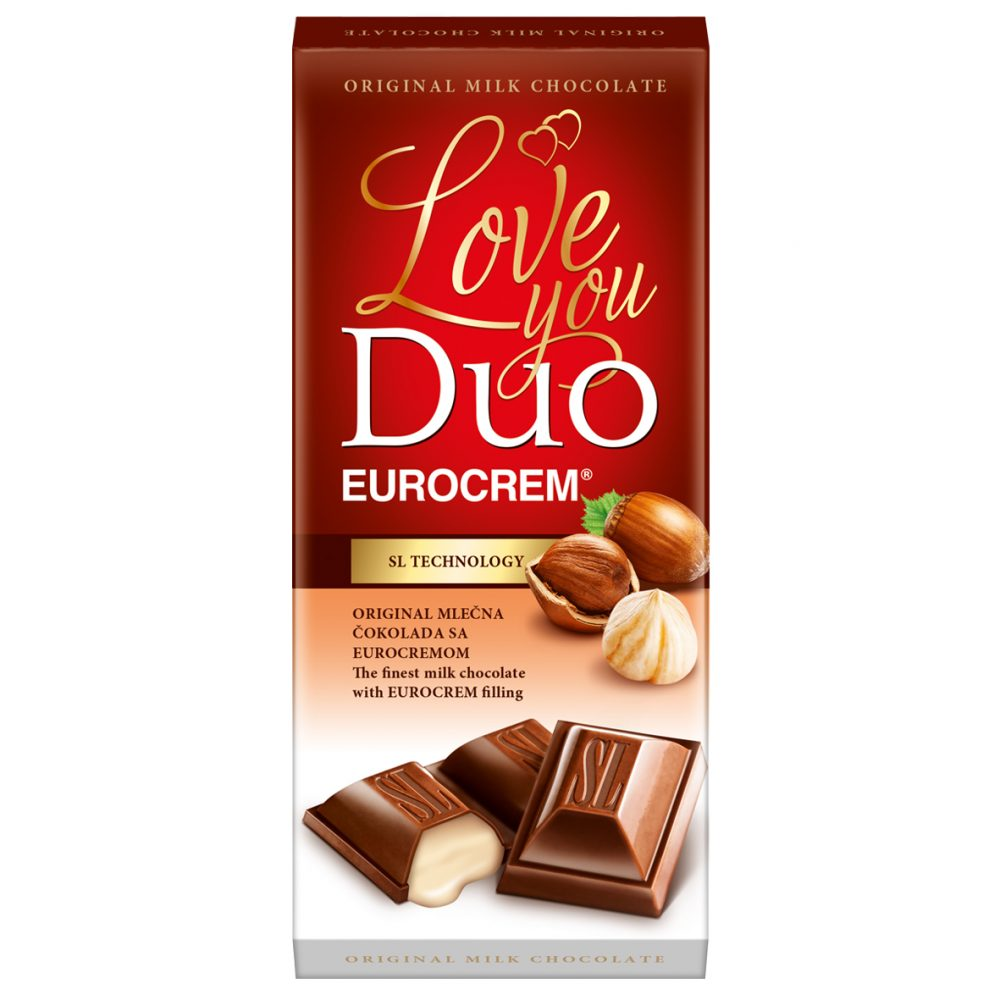 Čokolada sa Eurocremom duo 80g