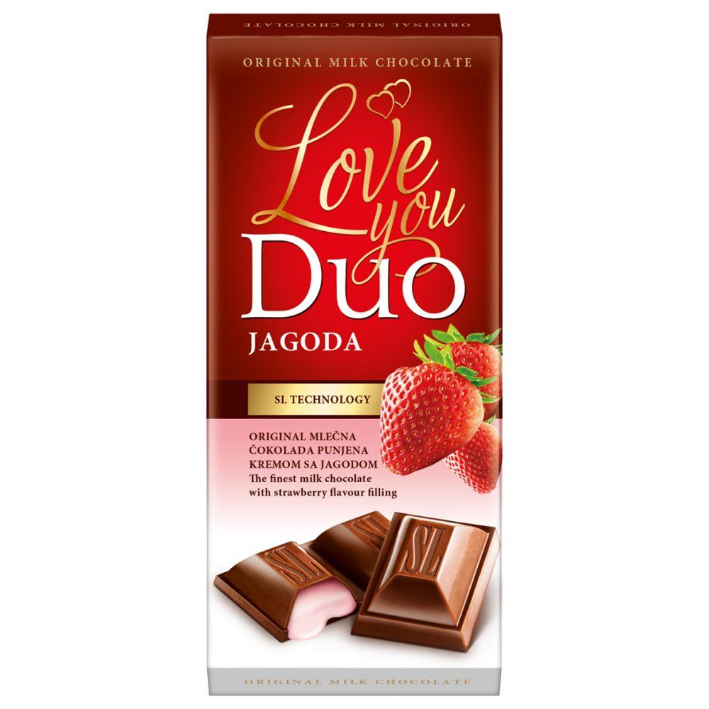 Čokolada sa jagodom duo 80g