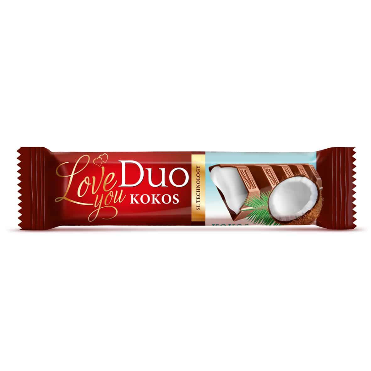 Duo čokolada sa filom kokosa 40g