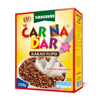 Čar na dar kakao flipsi 250g