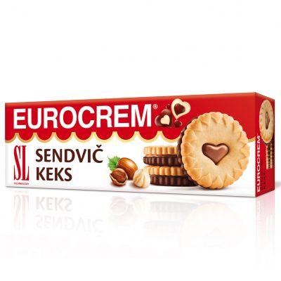 Eurocrem sendvič keks 125g