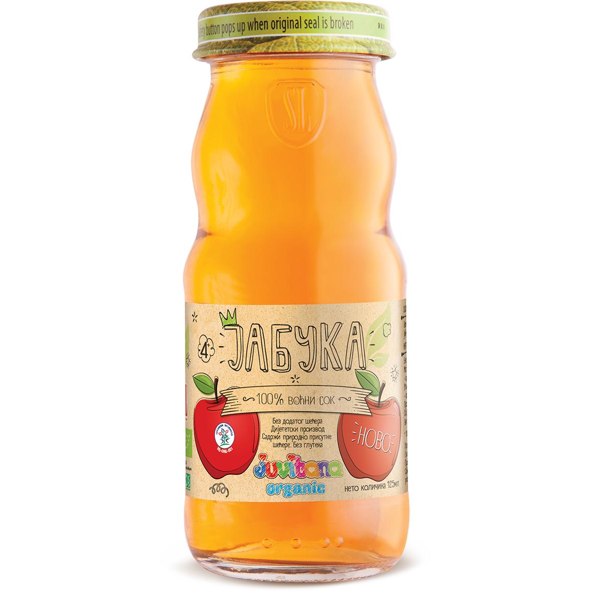 Juvitana jabuka sok organic 125ml