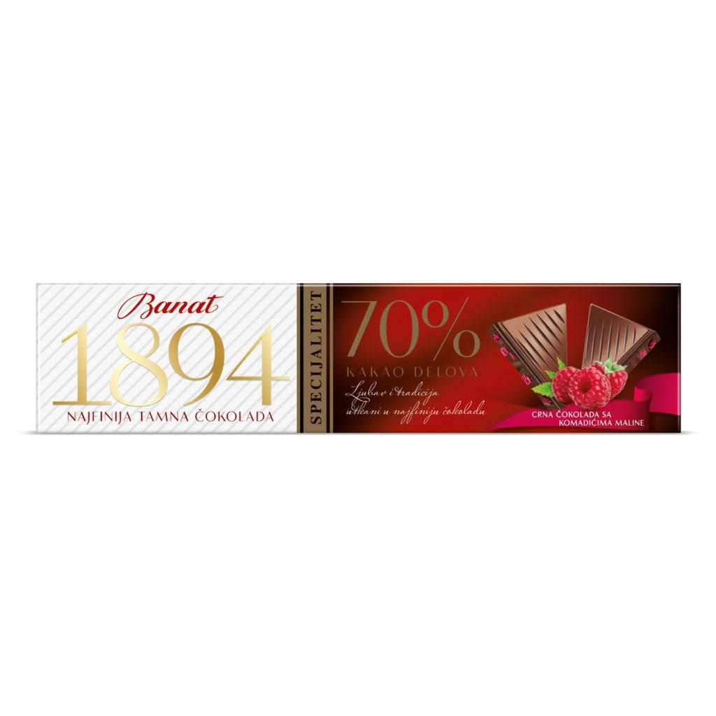 Banat Tamna Cokolada Malina 50g
