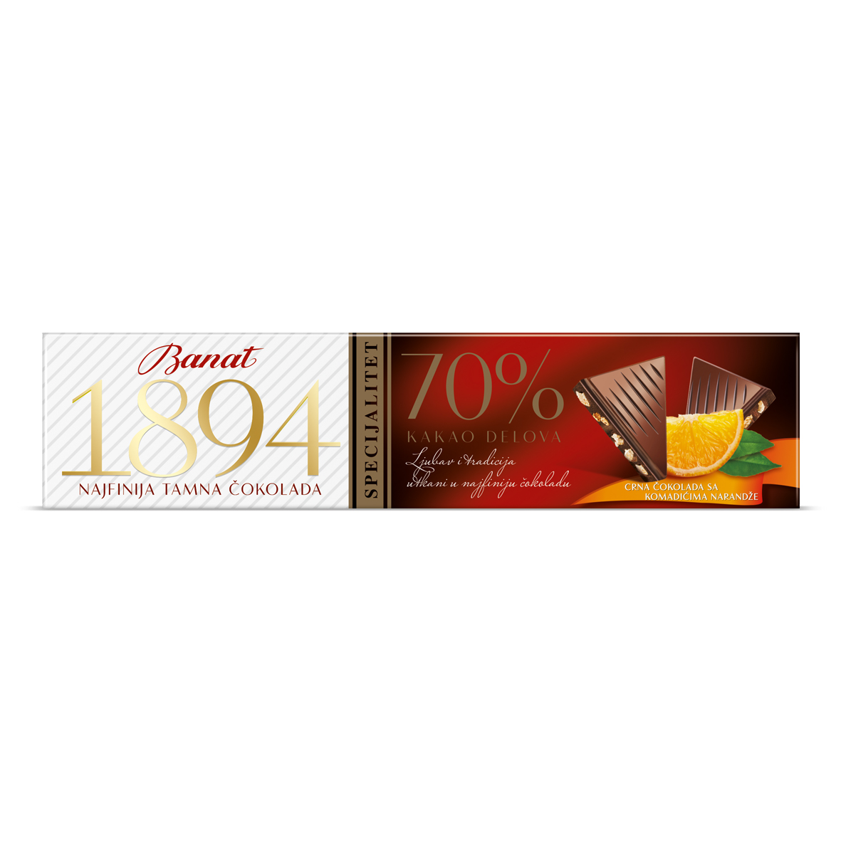 Banat Tamna Cokolada Pomorandza 50g