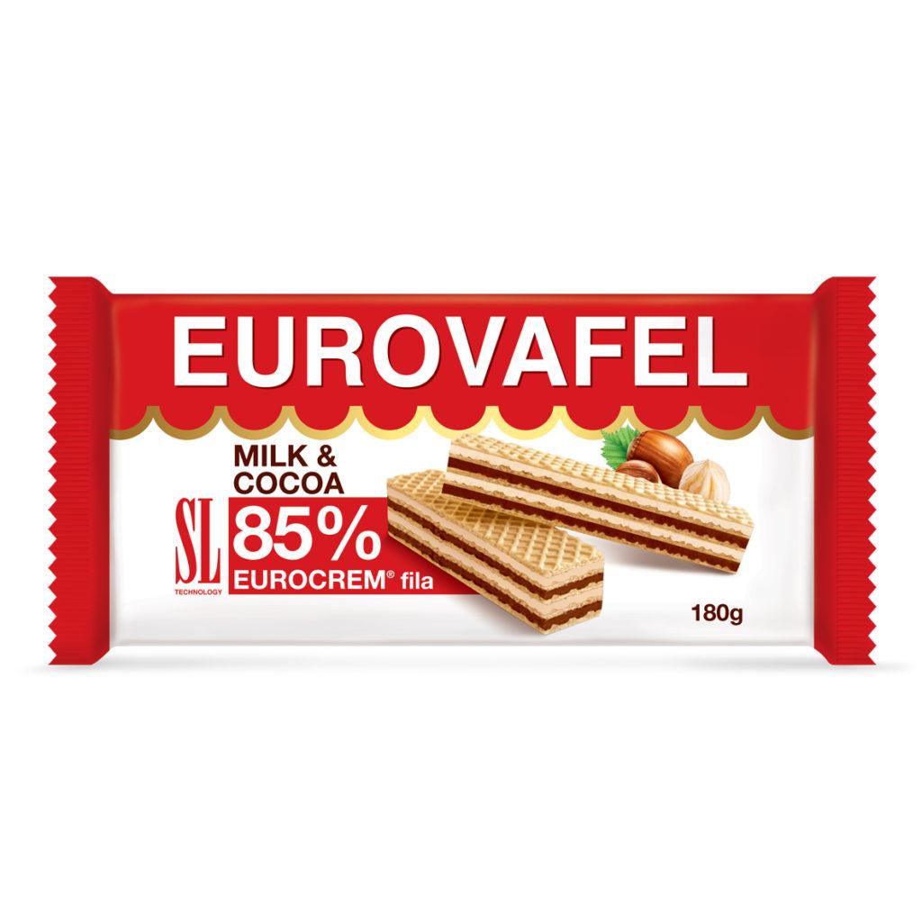 Eurovafel Milk & Cocoa 85% Fila 180g