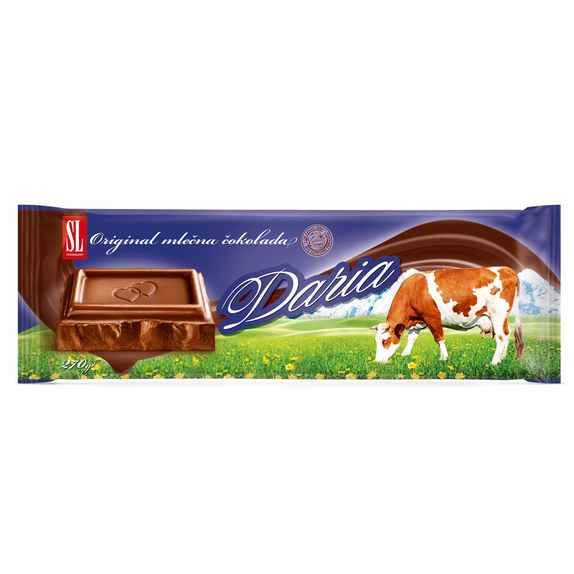 Daria mlečna čokolada, 270g | Swisslion-Takovo